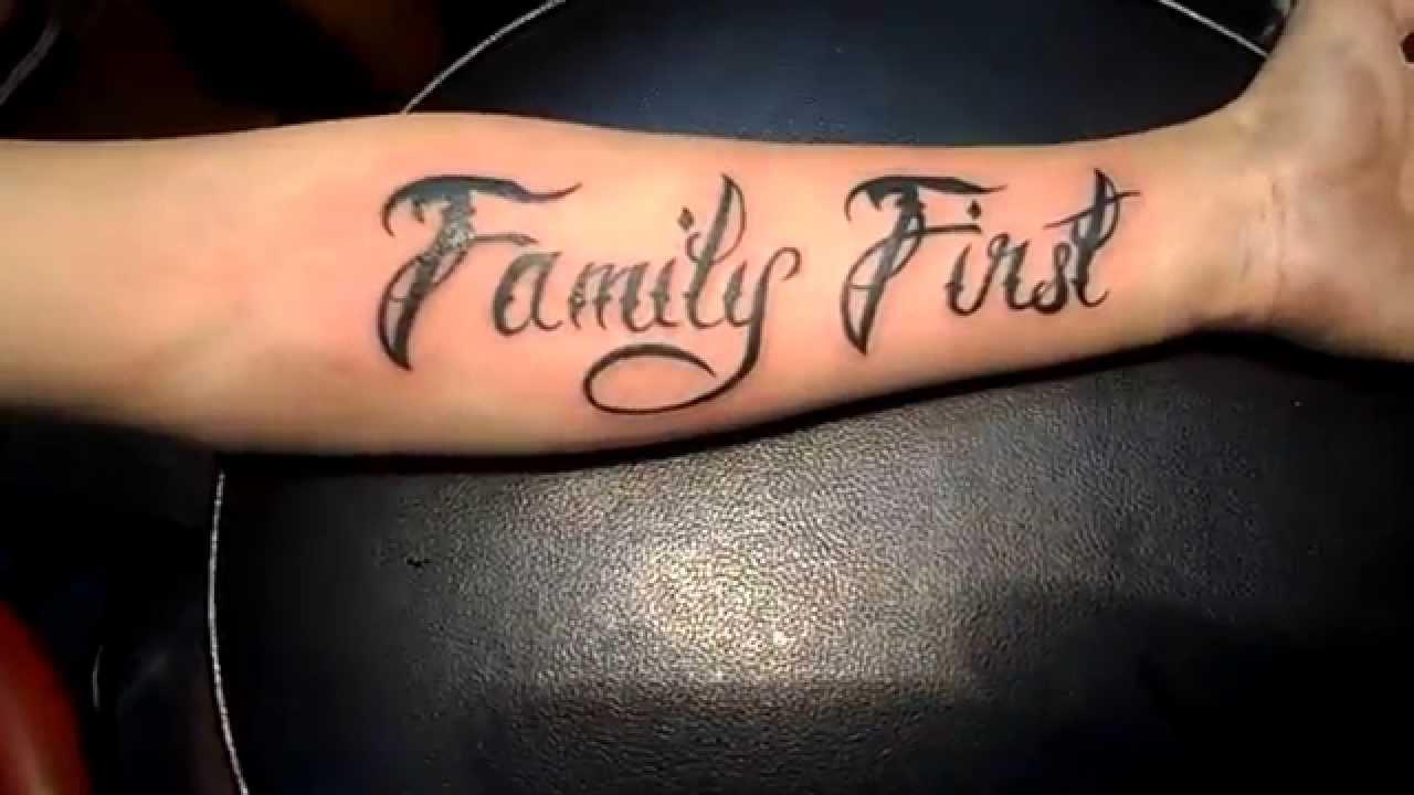 """Tổng hợp những hình xăm chữ """"family"""" đẹp nhất"""
